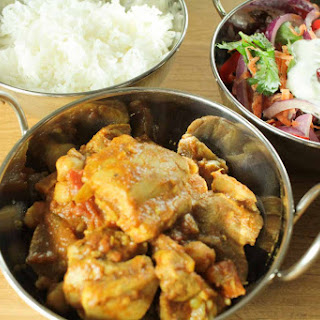 Easy Chicken and Chickpea Curry with Indian Slaw Recipe