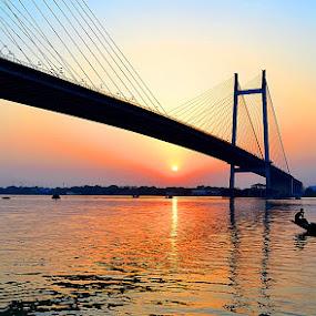 Pleasant Dawn by Sayan Bhattacharya - Landscapes Waterscapes ( travel, landscape, waterscapes )