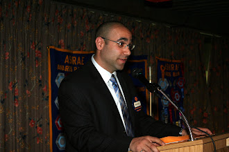 Photo: Georges Maamari discussed the TEGA Awards and presented the awards