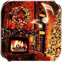 Christmas Fireplace Live Wallpaper icon
