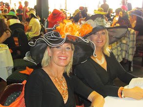 Photo: Tracy Kelly and Kim Ludwig attending the Wine Women and Horses Event at Turf Paradise