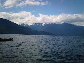 Photo: The Tsitika River valley on Vancouver Island comes into view across Johnstone Strait.