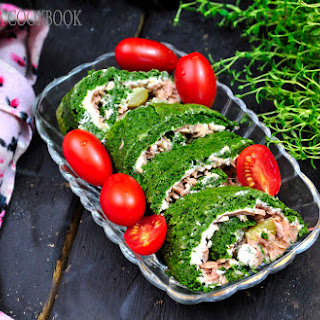 Spinach And Tuna Roulade.