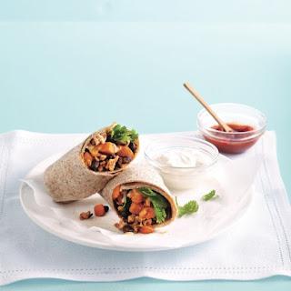 Squash, Turkey And Bean Burritos