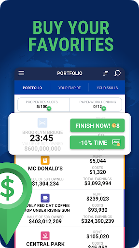Landlord Tycoon - Money Investing Idle with GPS 2.2 screenshots 3