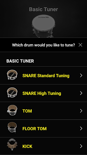 Drumtune PRO | Drum Tuner  > Drum tuning made easy screenshot