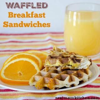 Waffled Breakfast Sandwiches.
