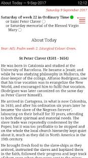 Catholic Calendar: Universalis - náhled