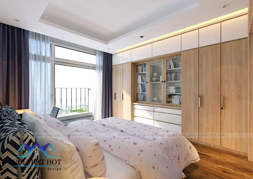 thiết kế phòng ngủ cá tính, thiết kế chung cư times city