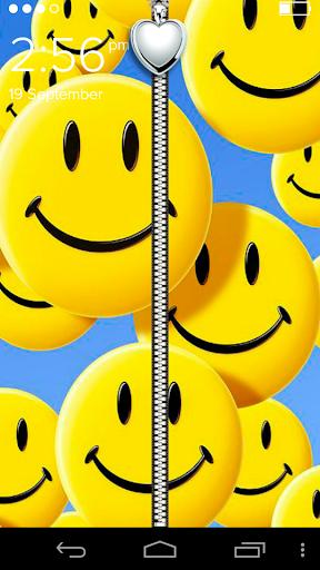 Smiley Zipper Lock Screen
