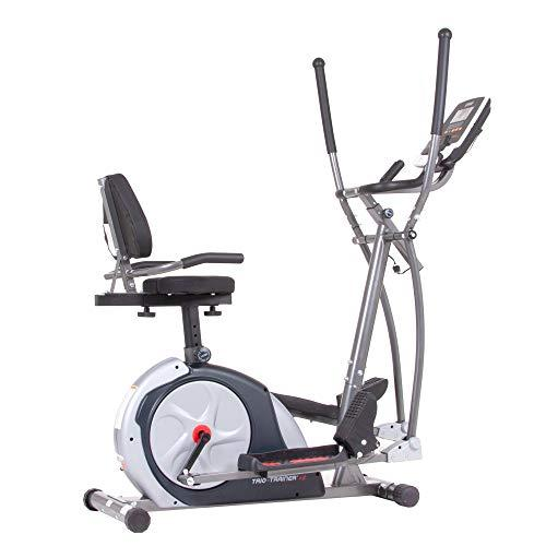 Body Champ 3-in-1 Exercise Machine, Trio Trainer Plus Two, Silver