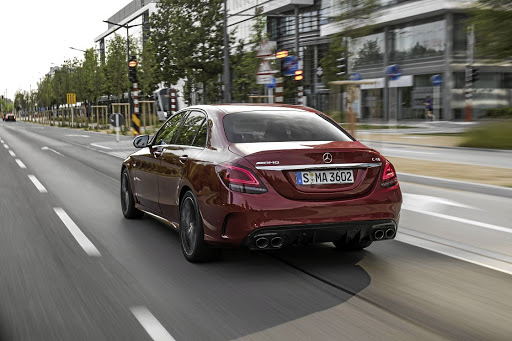 Four exhausts provide the AMG look even if they don't have the sound. Picture: DAIMLER