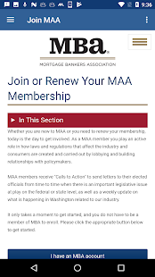 MBA Mortgage Action Alliance- screenshot thumbnail