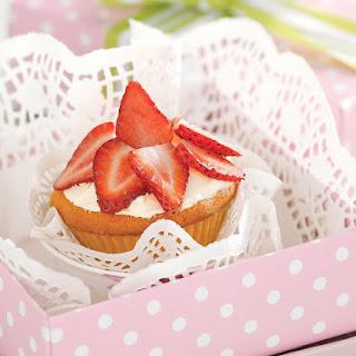 Strawberry Cream Cupcakes.