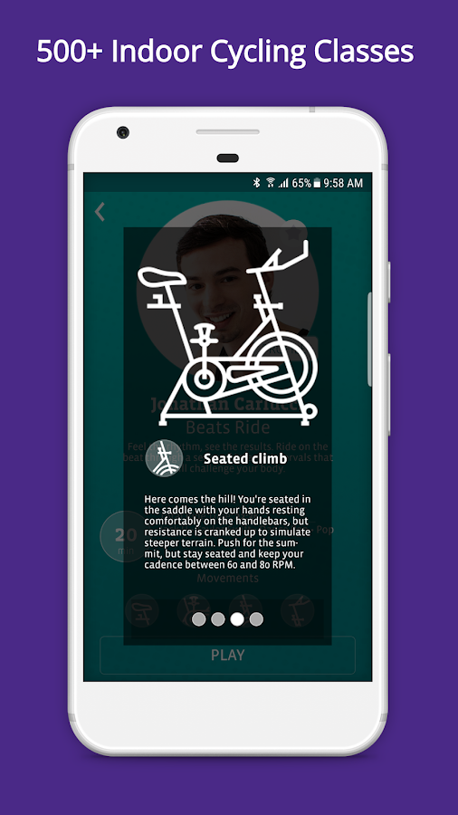 CycleCast - Indoor Cycling Workouts for Any Bike- screenshot