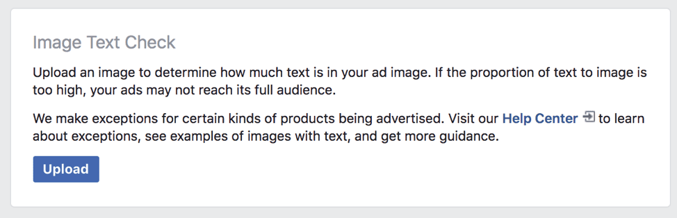 Facebook Ad Not Approved Image Text Check