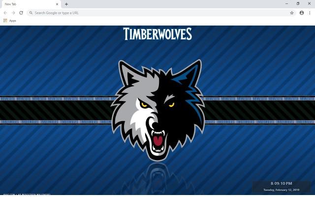 Minnesota Timberwolves New Tab Theme