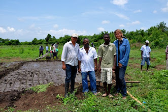 Photo: Trainers and organizers (Joeli Barison, Jackson Nelson, Assistant Robert, and Erika Styger); Ferrier, Haiti, June 2010 [Photo by Erika Styger]