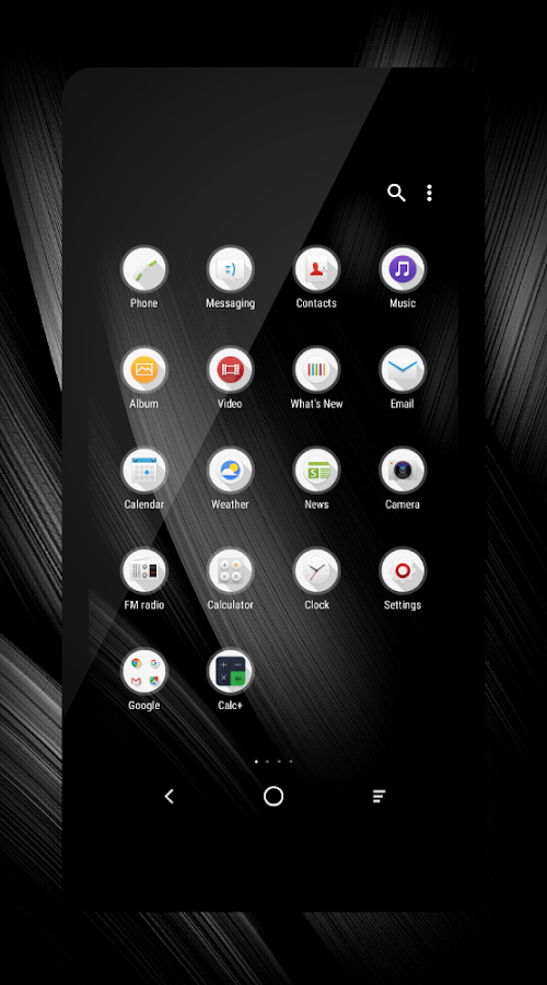 Modern Black Theme + Icons- screenshot