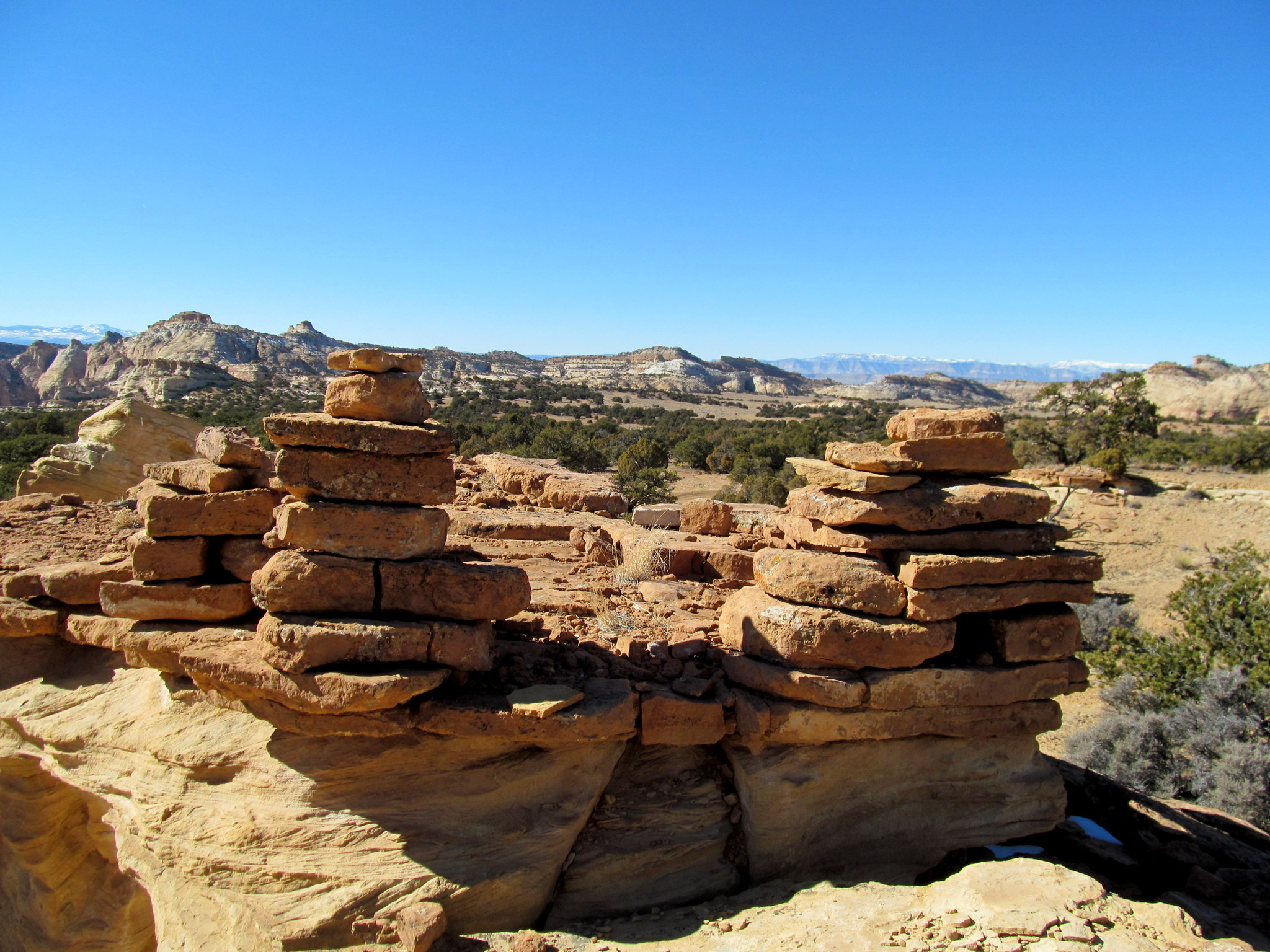 Photo: Stacked rocks near the Window
