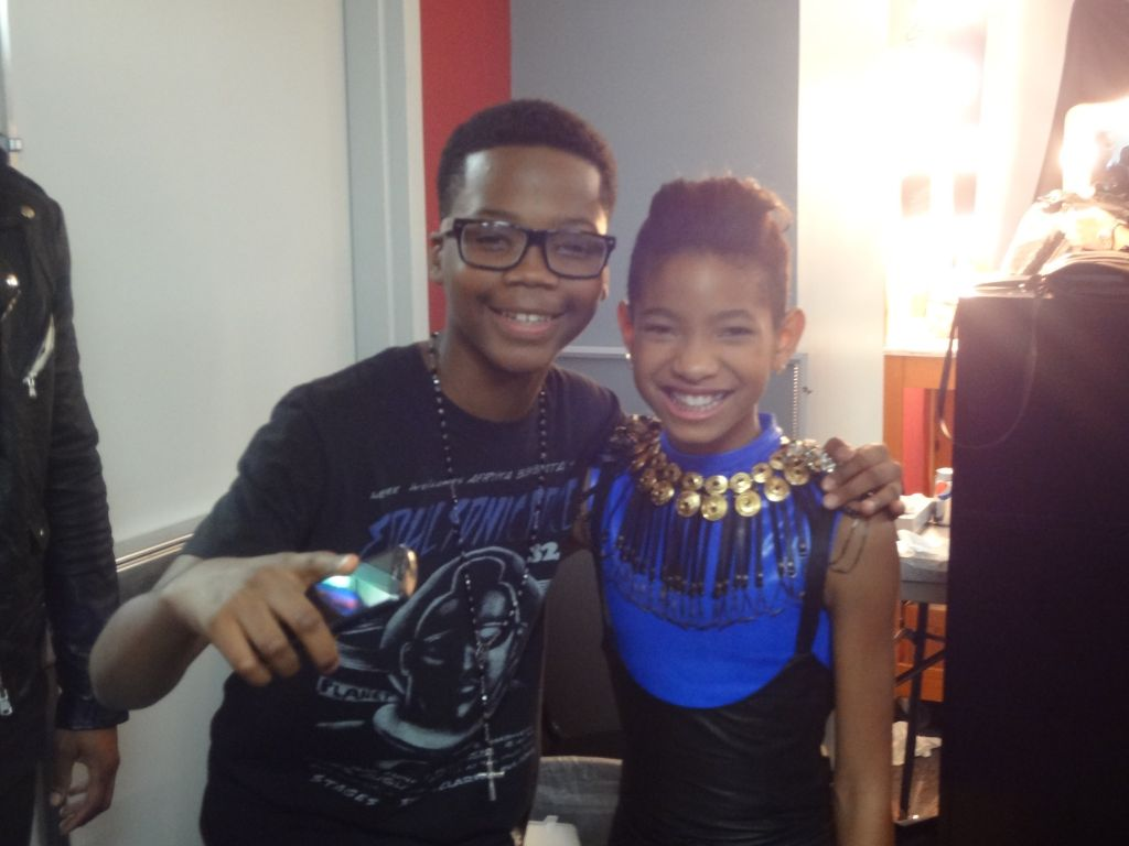 Photo: Hanging out with Willow Smith!