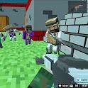 Shooting Zombie Blocky Gun Warfare icon