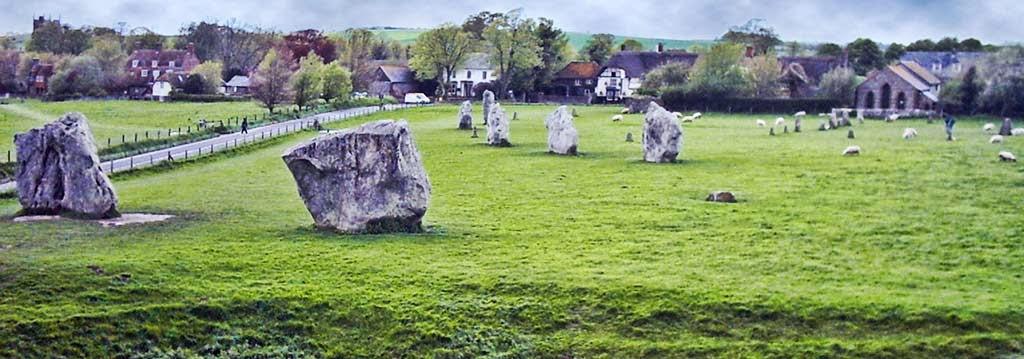 Photo: Standing stones of Avebury.
