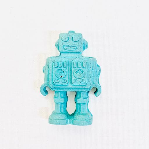 magnet frigo robot en béton coloré