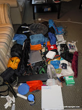 Photo: The gear, not counting personal clothes, sleeping bags, computers, etc, that we'll be lugging across the length of Russia