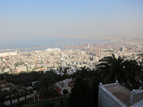 Photo: Haifa from above the Bahai Gardens
