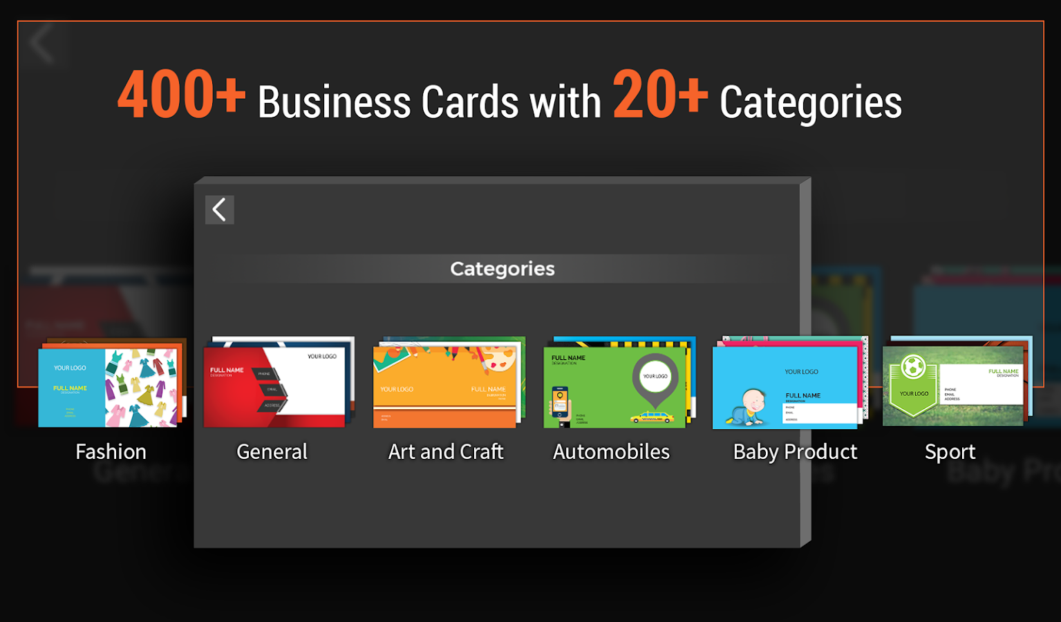 Business card maker android apps on google play business card maker screenshot magicingreecefo Choice Image