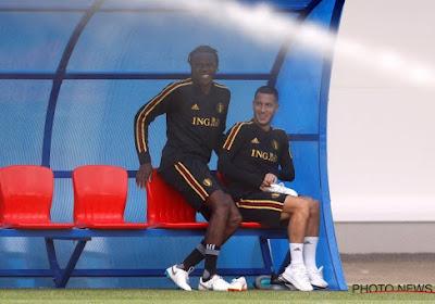 ? Durant l'entraînement, Boyata et Hazard se sont bien amusés