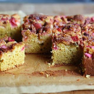 Rhubarb Cornflour Cake.