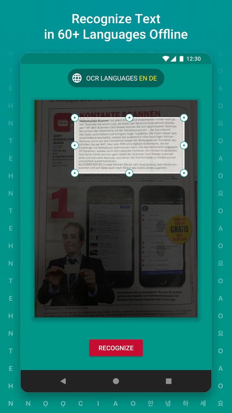 TextGrabber – image to text: OCR & translate photo Screenshot 3