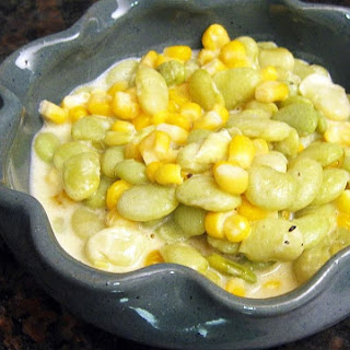 Creamy Succotash with Onions and Bell Pepper Recipe