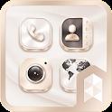 White Gold Launcher theme icon