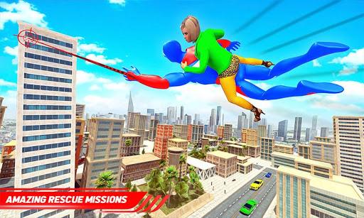 Flying Police Robot Rope Hero: Gangster Crime City screenshots 3