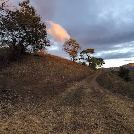 Running by Luis Albanes - Landscapes Mountains & Hills ( running, hill, san lorenzo, road, el salvador )