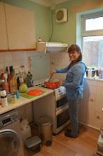 Photo: Julita preparing the breakfast