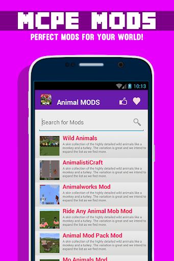 動物MODS對於MCPE