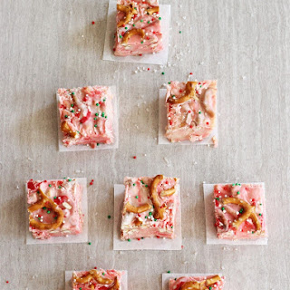 White Chocolate Peppermint Pretzel Fudge