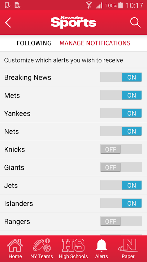 Newsday Sports- screenshot
