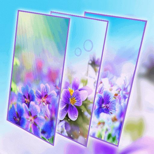 Purple Flower Live Wallpaper
