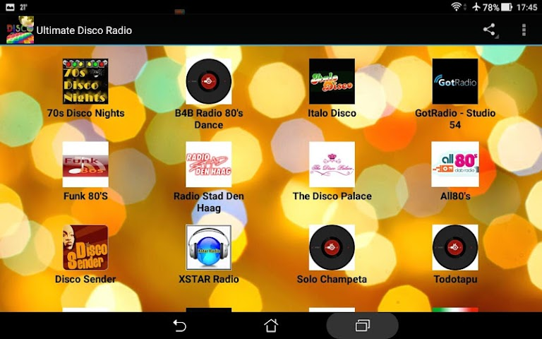 android Ultimate Disco Radio Screenshot 5