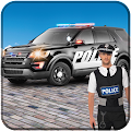 Police Car Driving City Crime