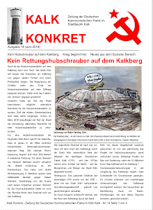 Faksimile: Kalk konkret, Ausgabe 14, Juni 2018, Titelseite.
