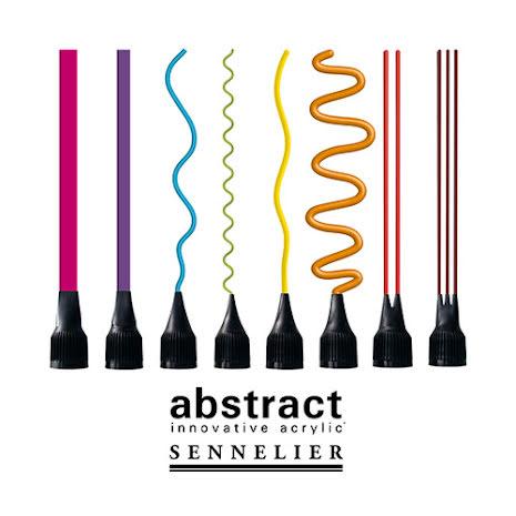 Abstract Färgmunstycken set med 8 sorterade