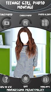Dospívající dívka foto montáž - náhled