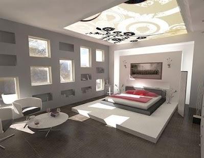 Moderní Ložnice Interior - náhled