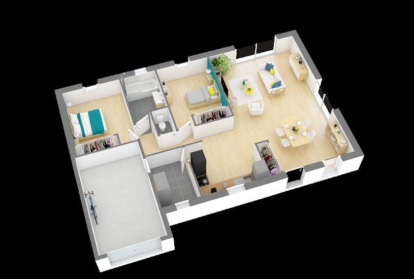 Vente Terrain + Maison - Terrain : 724m² - Maison : 79m² à Paucourt (45200)